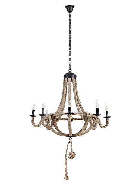 braided rope chandelier 1