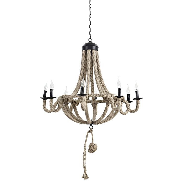 braided rope chandelier. 2