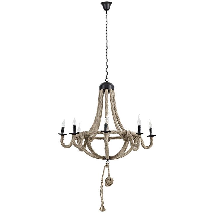 braided rope chandelier. 4