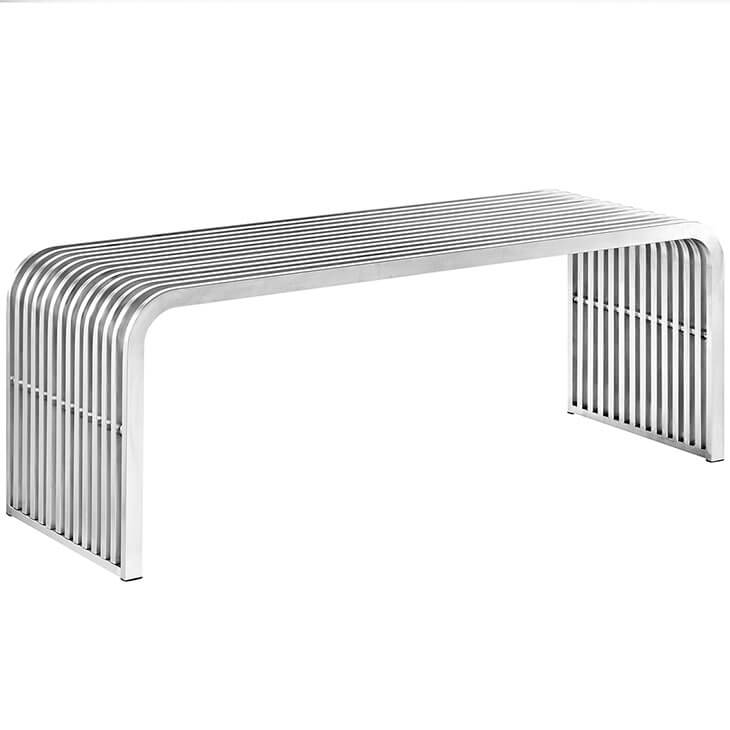 chrome curve bench medium 2