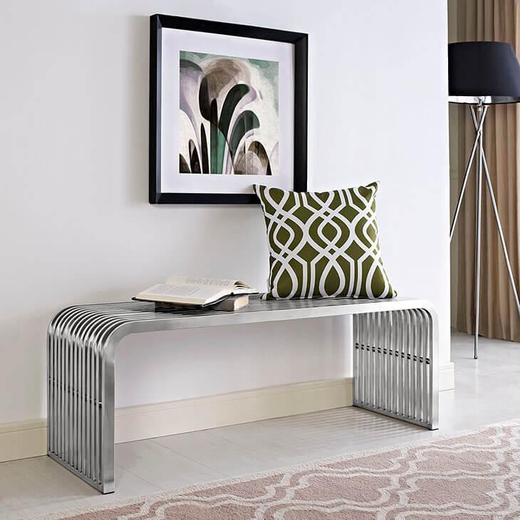 chrome curve bench medium