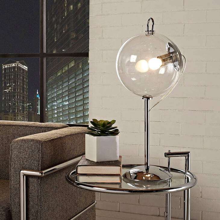 Glass Bubble Table Lamp Modern Furniture Brickell