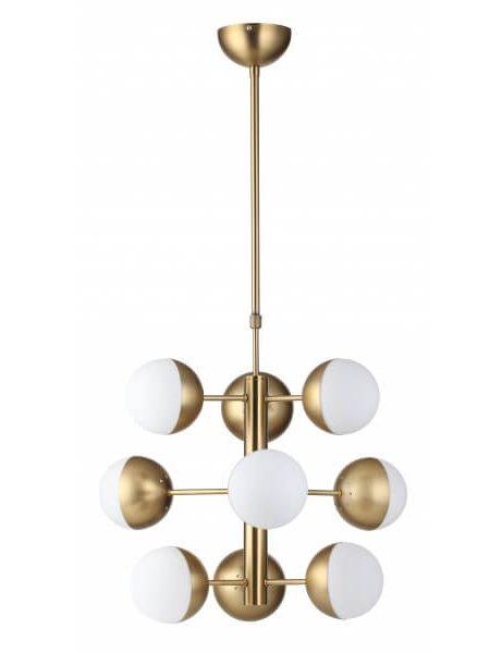 gold white bulb chandelier lighting 461x600