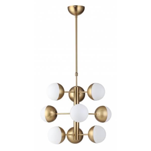 gold white bulb chandelier lighting