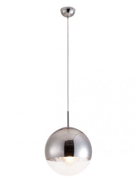 half dome silver pendant light 1