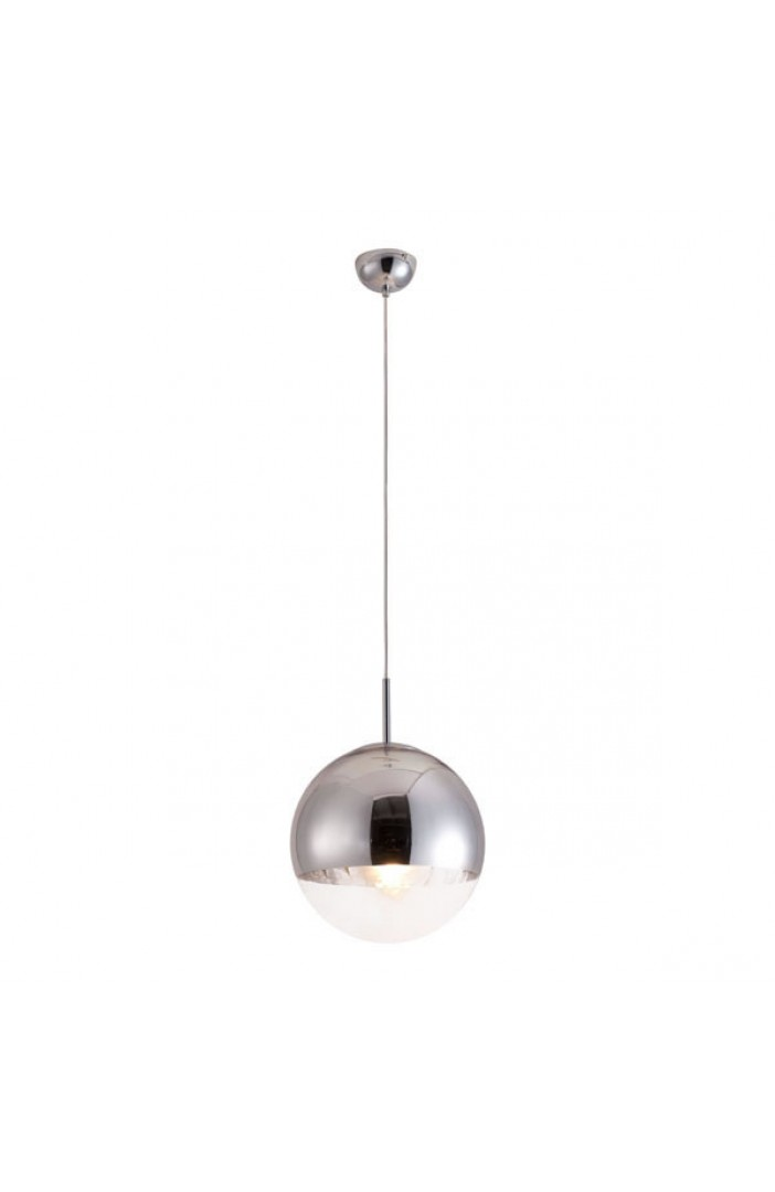 half dome silver pendant light