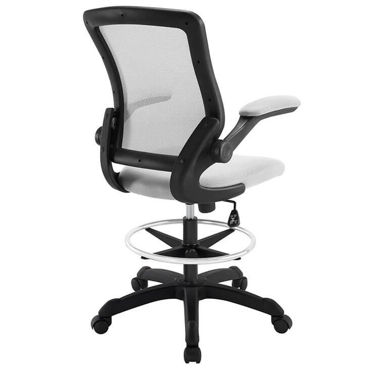 light gray mesh drafting stool 3