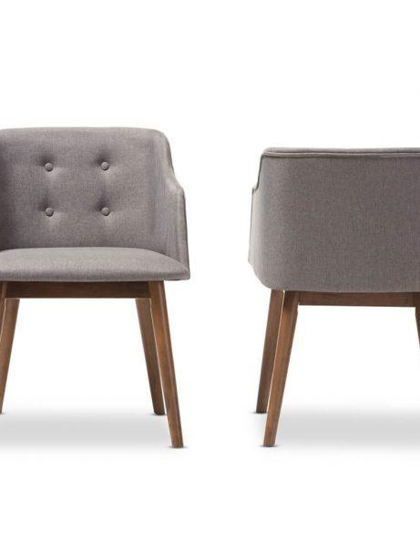 mid century grey fabric armchair 461x614
