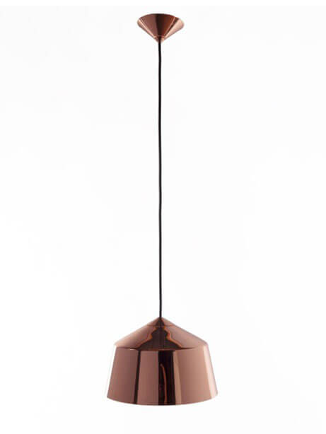 rose gold dome pendant light 1
