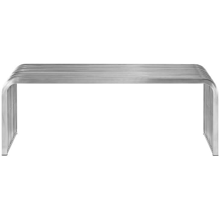 silver chrome bench