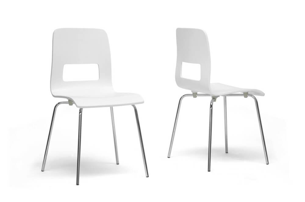 white square chair