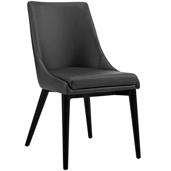 alps black leather chair