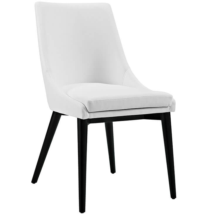 alps white leather chair 1