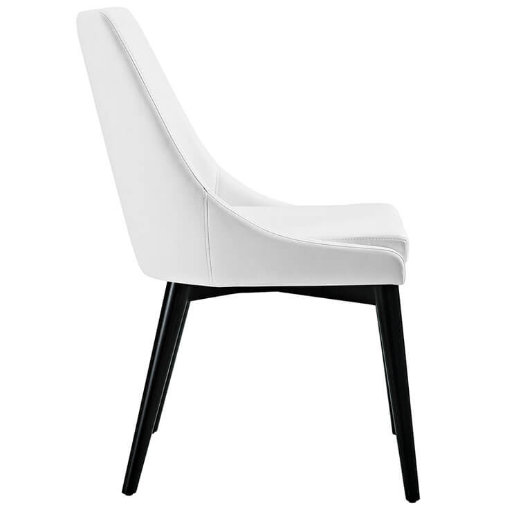 alps white leather chair 2