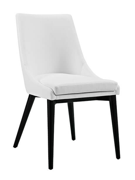 alps white leather chair