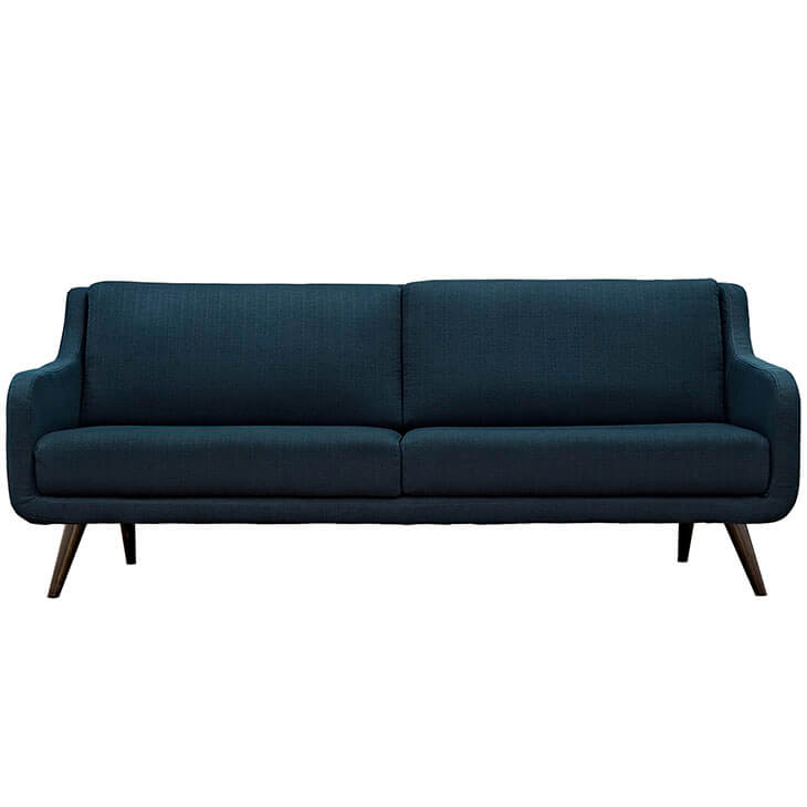archive blue fabric sofa