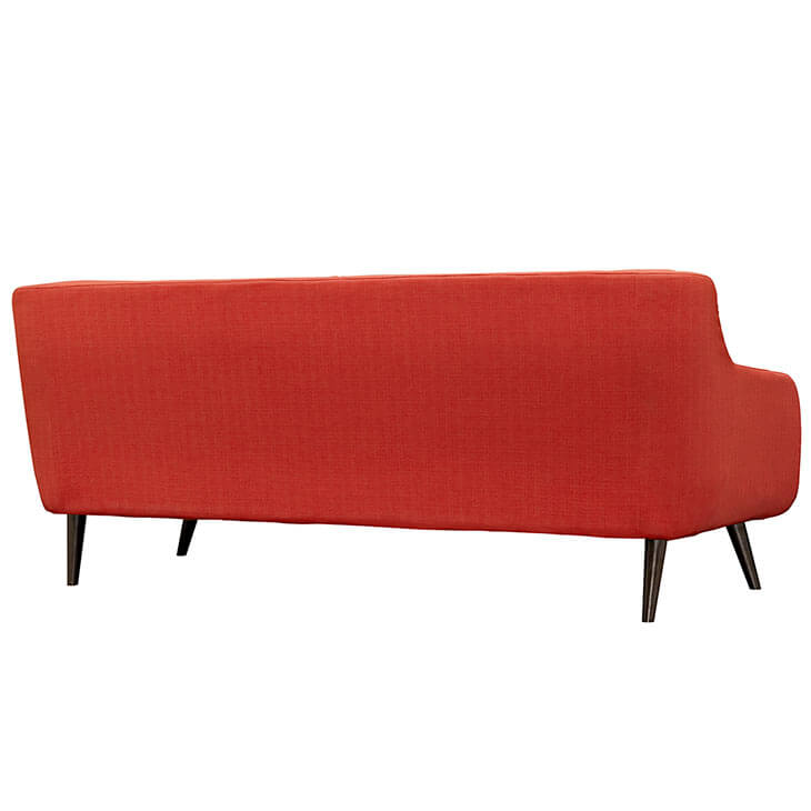 archive red fabric sofa 3