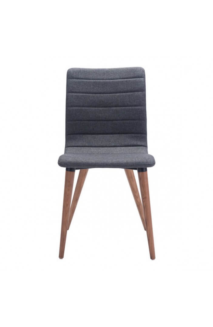 intrigue fabric dining chair gray 2