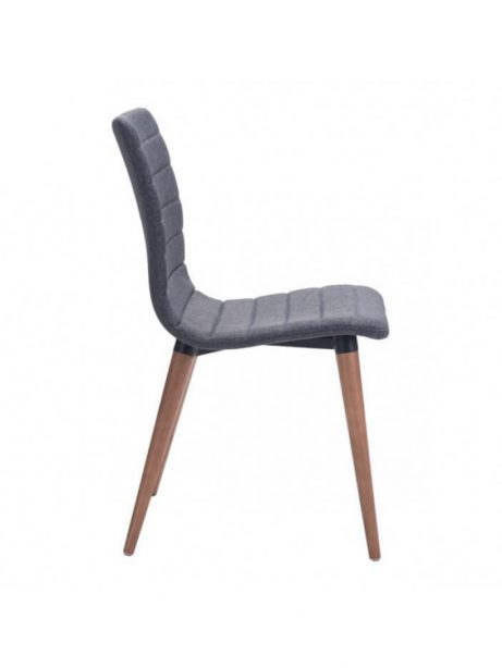 intrigue fabric dining chair gray 3 461x614