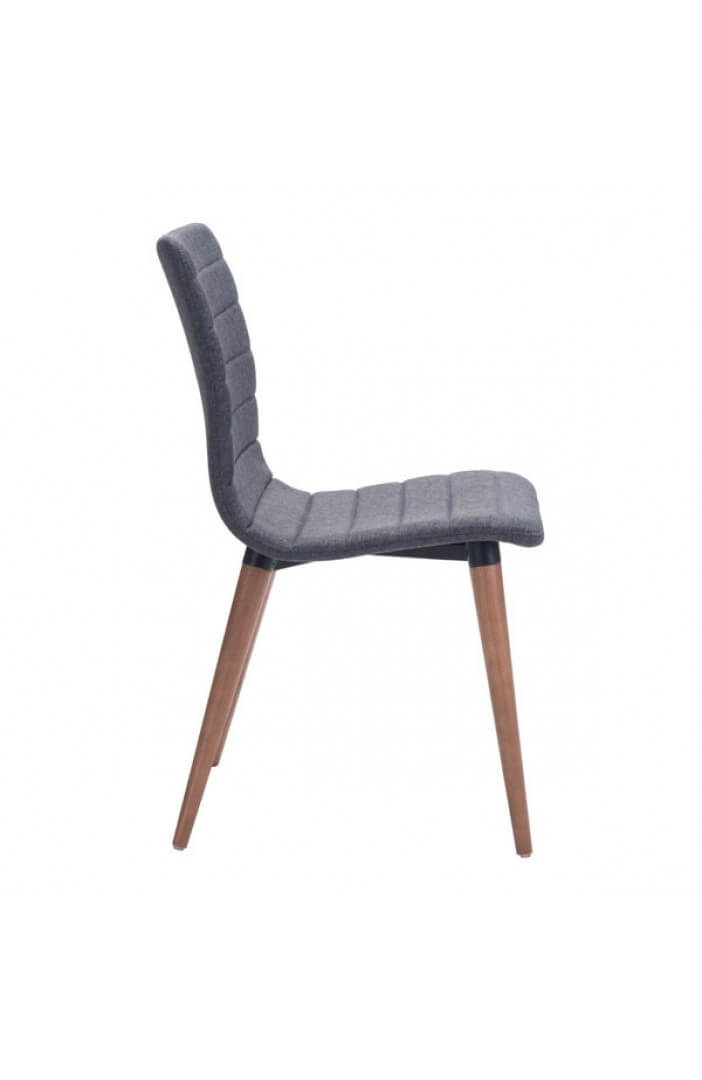 intrigue fabric dining chair gray 3