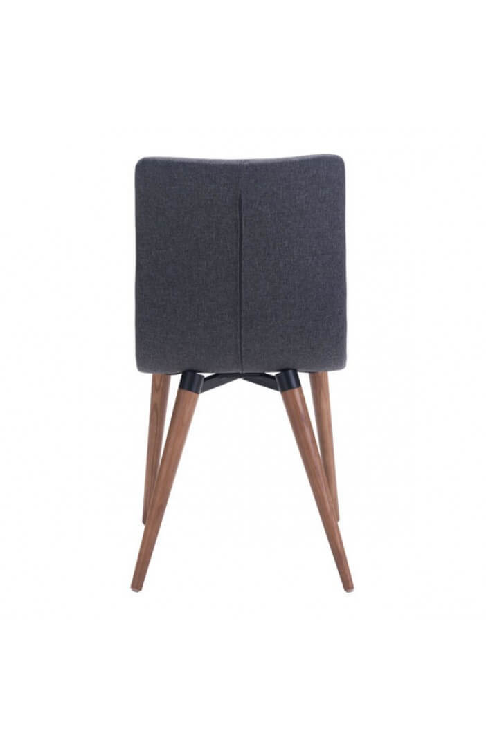 intrigue fabric dining chair gray