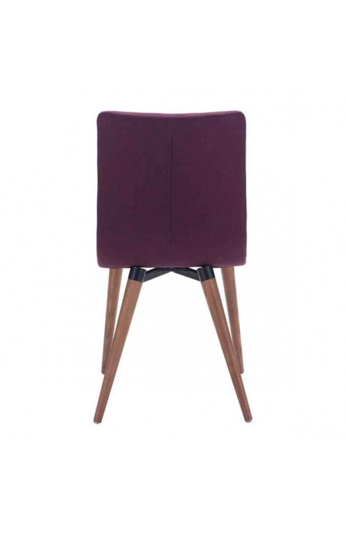 intrigue fabric dining chair purple