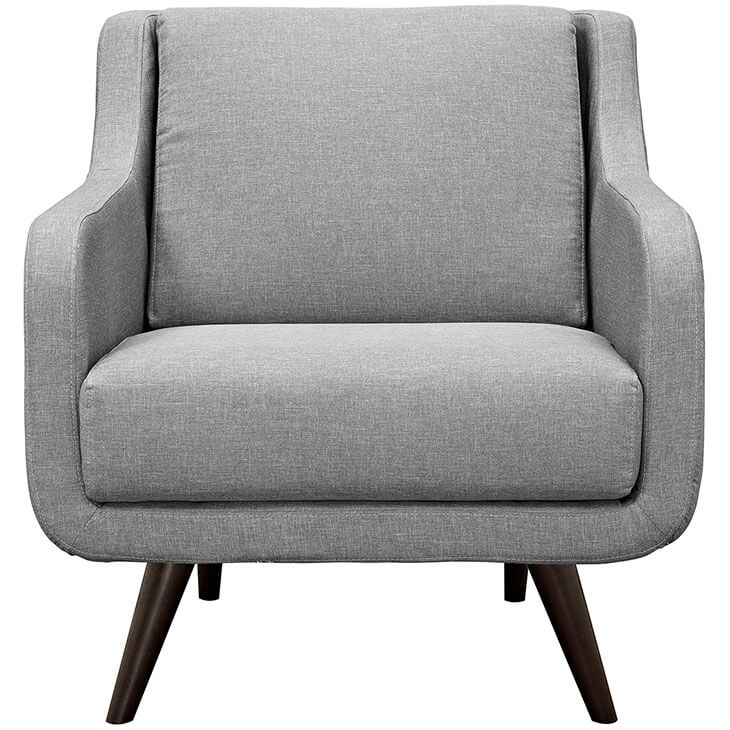 light gray archive armchair