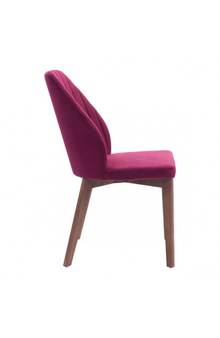 maroon mid century chair