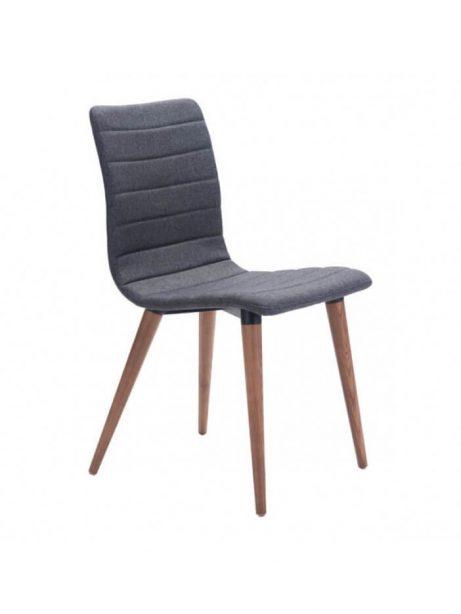 mid century gray fabric dining chair 461x614