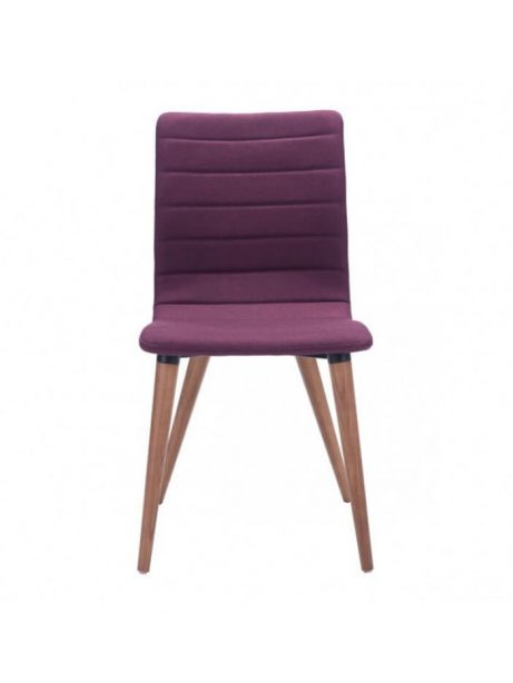 mid century purple fabric dining chair 461x614