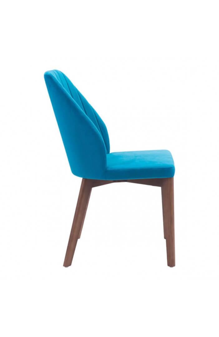 modern blue velvet dining chair