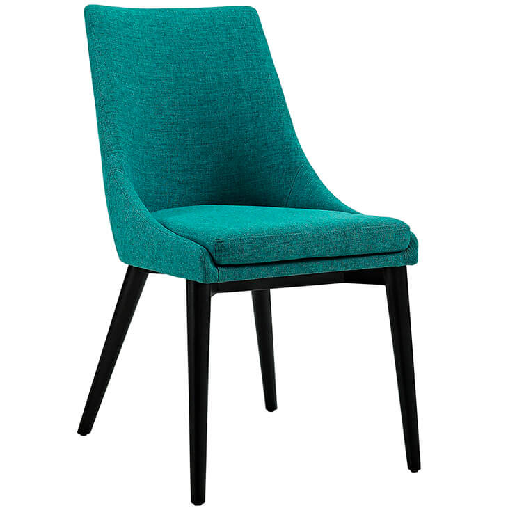 turquoise alps fabric chair
