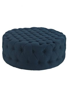 Round Tufted Fabric Ottoman 237x315