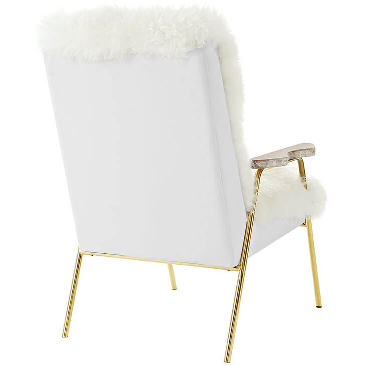 Sheepskin Puff Lounge Chair White 4