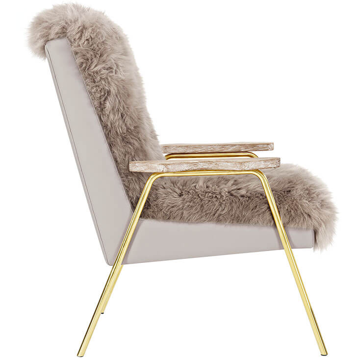 Sheepskin Puff Lounge Chair gray 2