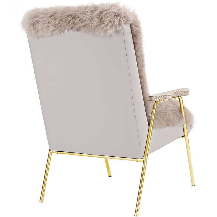 Sheepskin Puff Lounge Chair gray 3