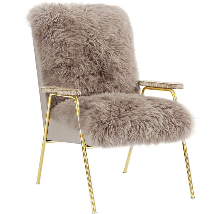 Sheepskin Puff Lounge Chair gray