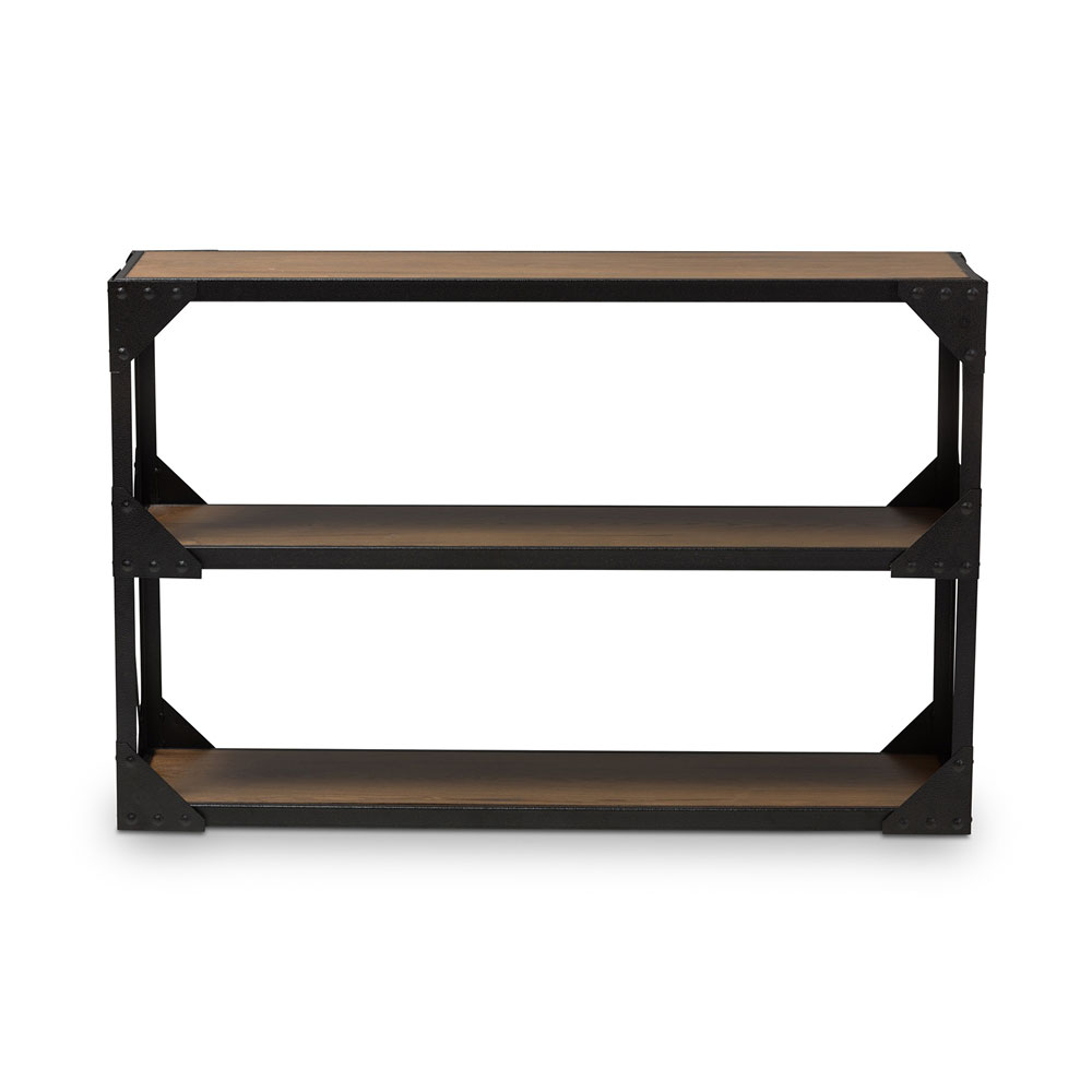 black iron wood console table 1