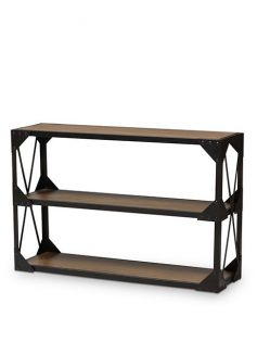 black iron wood console table 237x315