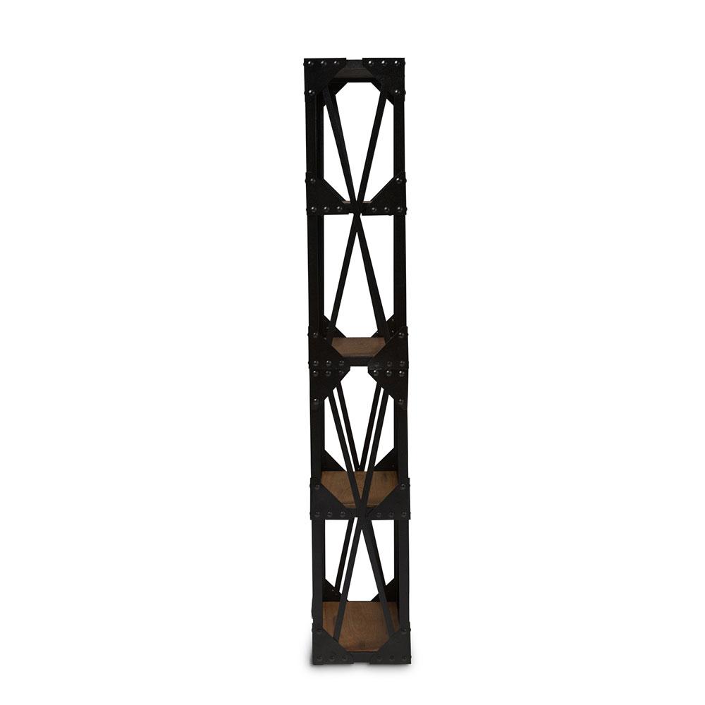 black iron wood shelving unit 2