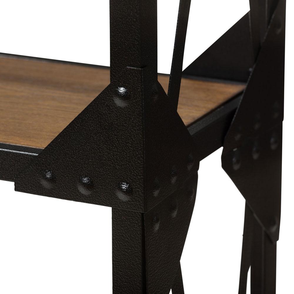 black iron wood shelving unit 3