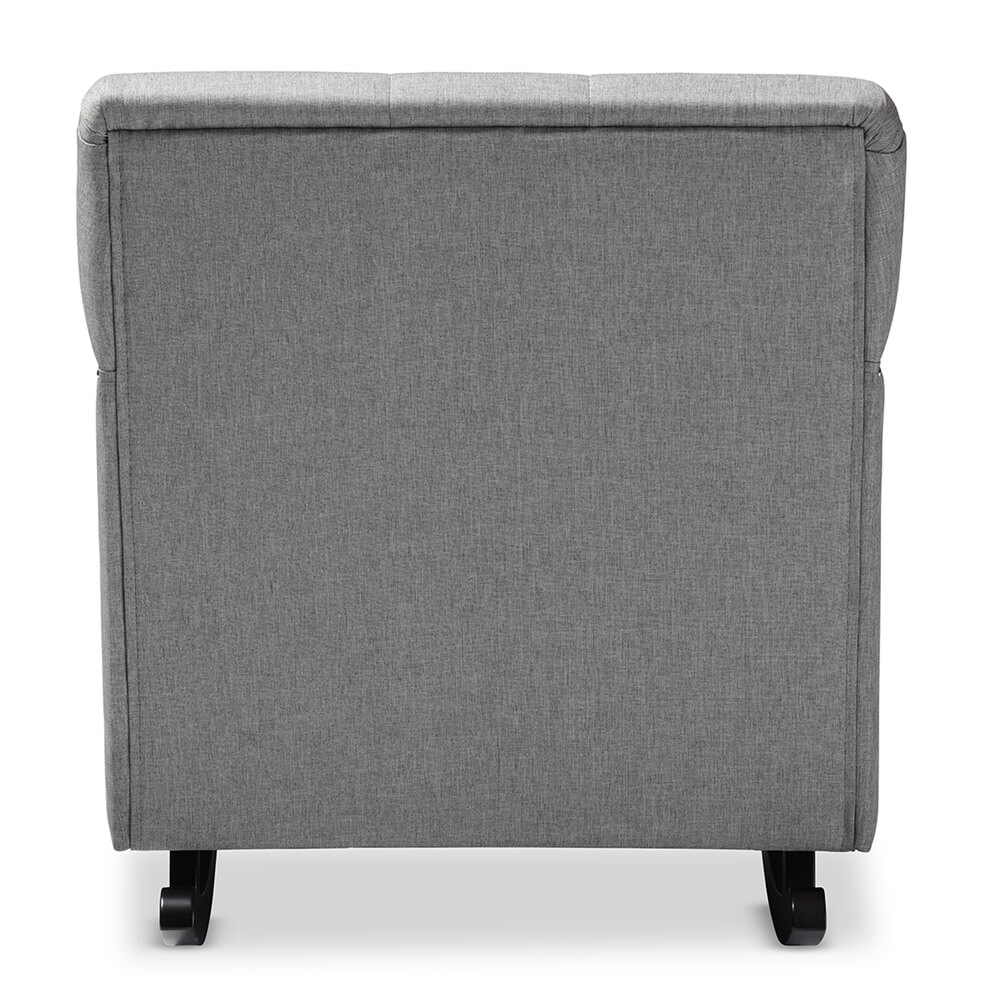 deluxe plush rocking chair gray 4