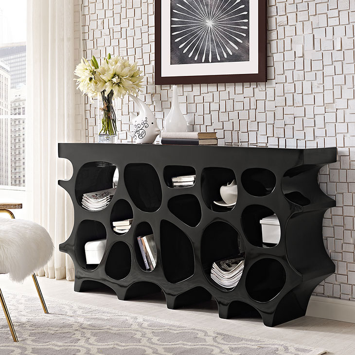 hive medium console table black 3