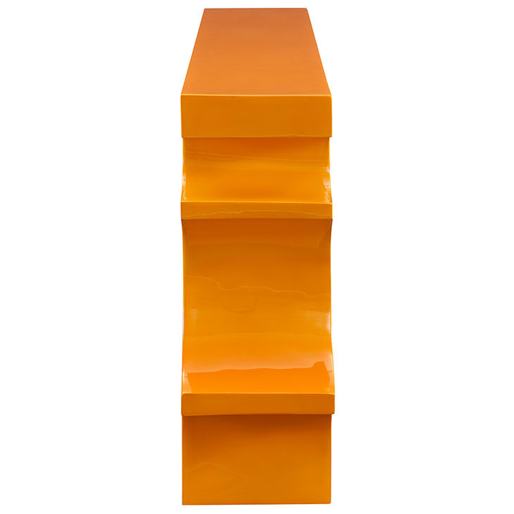 hive medium console table orange 2