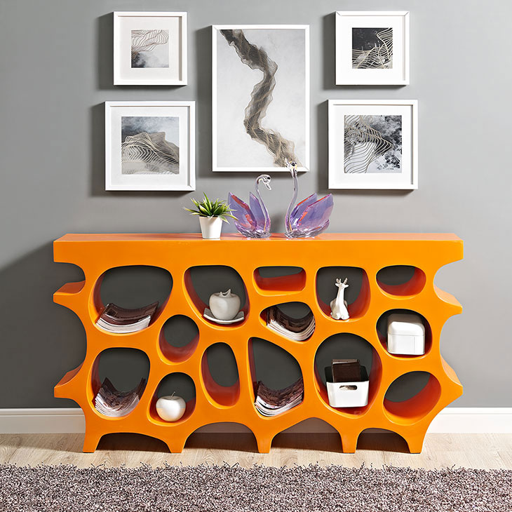 hive medium console table orange 4