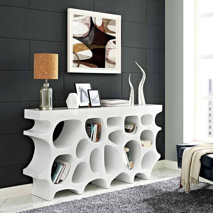 hive medium console table white 4