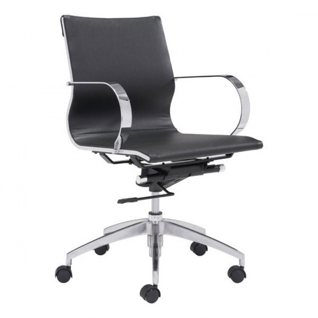 image mid back office chair black 1