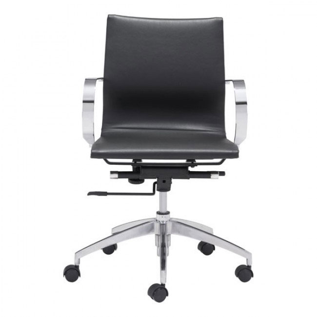 image mid back office chair black 3