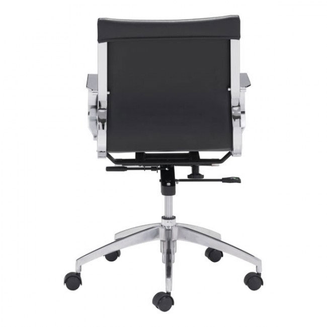 image mid back office chair black 4