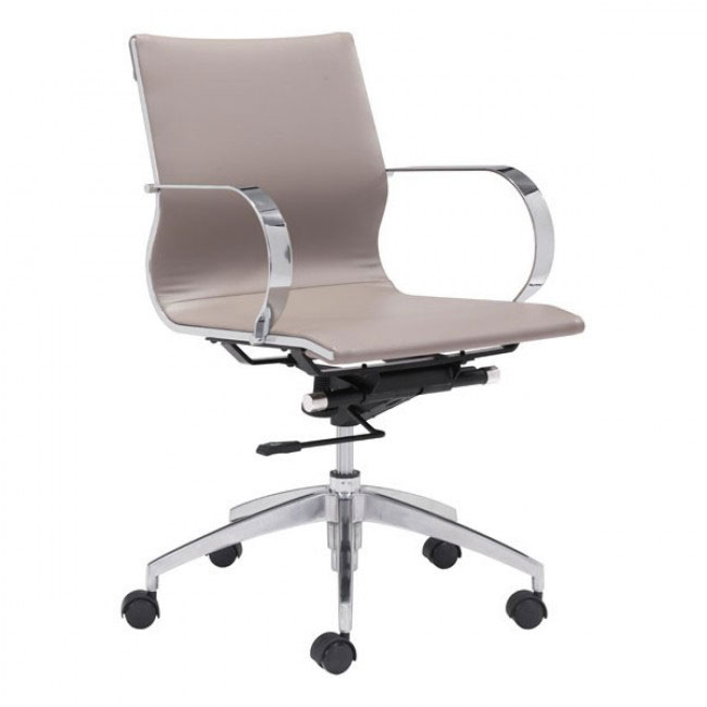 image mid back office chair taupe 1